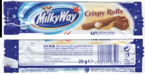 Milky Way Crispy Rolls 2012