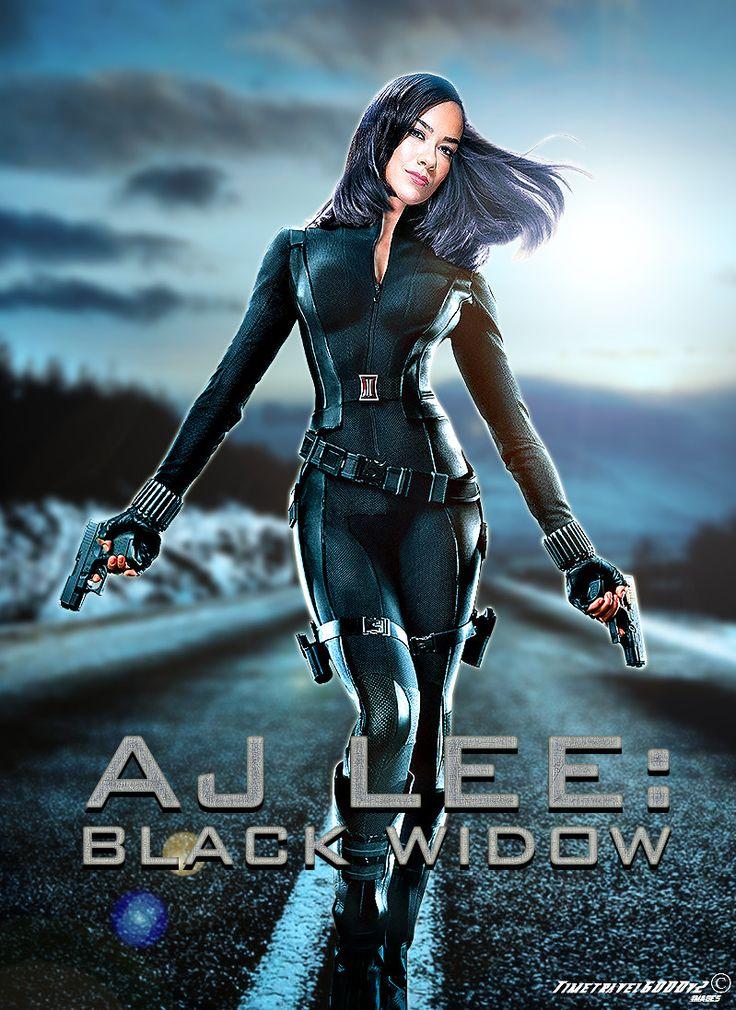 WWE AJ Lee Black Widow Poster by Timetravel6000v2.deviantart.com ...