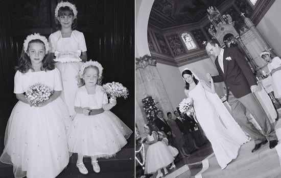 Maid of honour and Flower girls at the wedding of Lana & Maurício Cancela at  Igreja São José em São Paulo, Brazil - 10 years ago