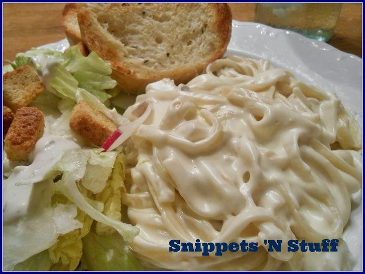 Snippets 'N Stuff: Easy Homemade Alfredo Sauce