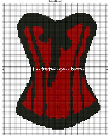 point de croix corset , cross stitch woman