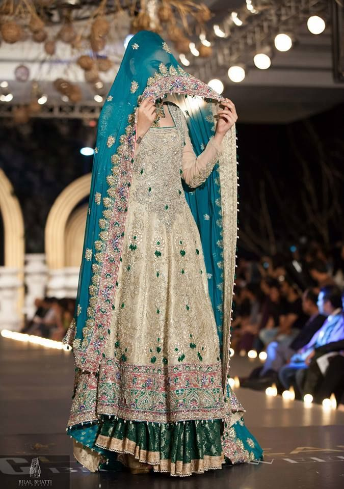 Pakistani Bridal Wear Pinned by Zartashia