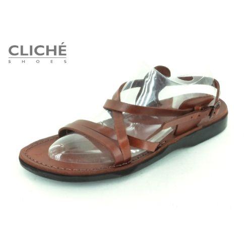 Páskové sandálky, tmavě hnědá