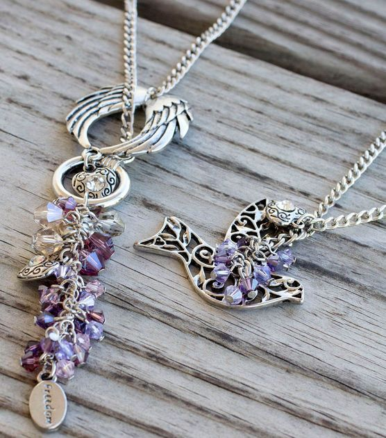 Love these handcrafted whimsical necklaces! #DIY #joannhandmade