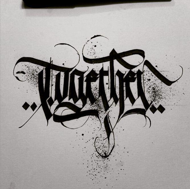 alpha_bet_assassin - #togetherchallenge #calligraphy #artist #calligraphymasters #calligrapher #calligraffiti #blackletter #fraktur #artwork #art #type #typography #handstyle #handstyler #graffiti #logotype #handtype #ink #branddesign #lettering #letters #letterforms #typematters #style #skript