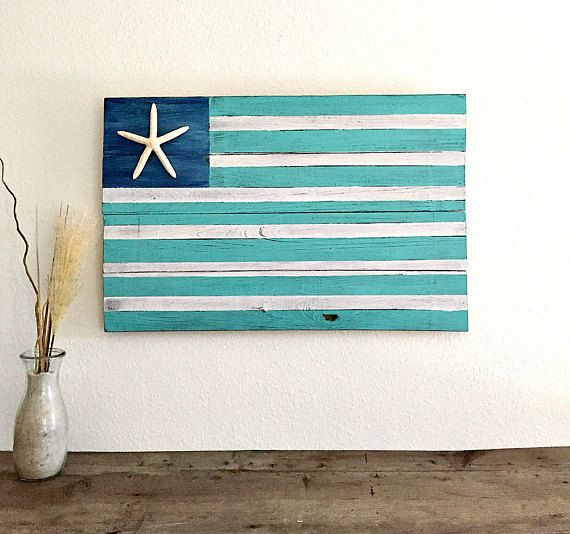 Hey, I found this really awesome Etsy listing at https://www.etsy.com/listing/522540813/aqua-american-flag-wood-beach-flag