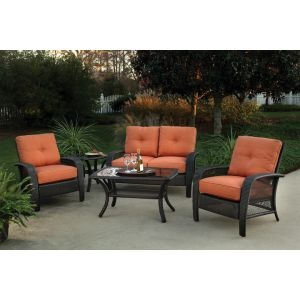Martinique 4 Piece Patio Set Outdoor Furniture Maybe