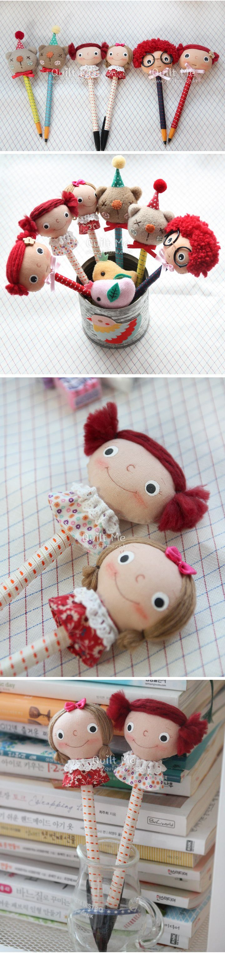 what a cute set of pencil toppers! I'd love to have one.: