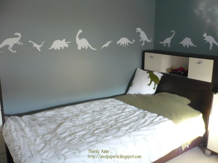 207 best dino bedroom images on pinterest child room for Dinosaur themed kids room