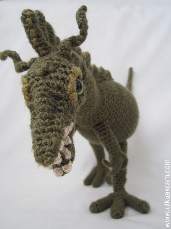 Amigurumi Dinosaur Pattern by Denizmum on Etsy, $7.00