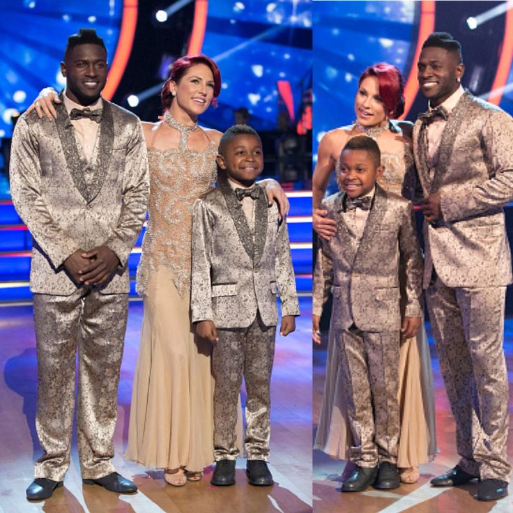 Antonio Brown, Sharna Burgess, and Antonio Brown Jr #TeamBoomin