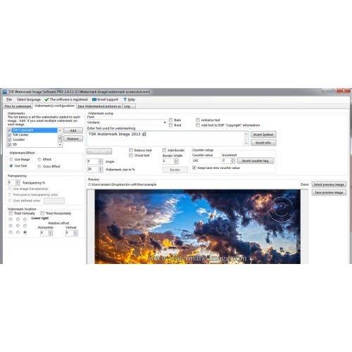 Freeware: Fotos mit einem Wasserzeichen vor Missbrauch schützen, funktioniert mit der Gratis-Software Watermake Image.