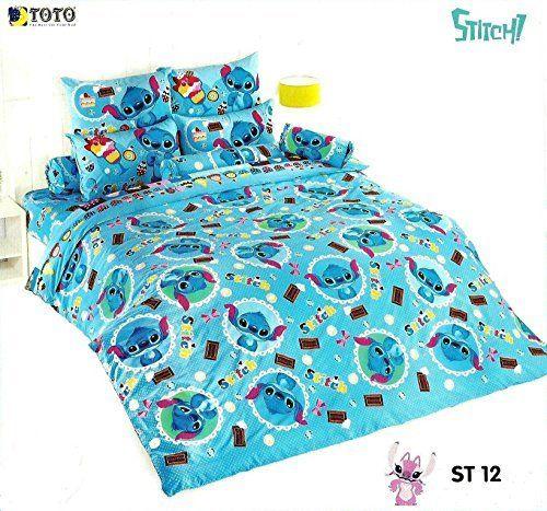 disney lilo stitch bedding set king queen size 5 pieces set 1 duvet cover size 90 x 97. Black Bedroom Furniture Sets. Home Design Ideas