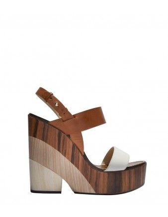Jimmy Choo Notion Tricolor Wedge Sandal