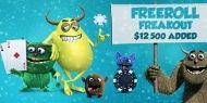 Alatura-te Poker Heaven in luna ianuarie pentru a lua parte la promotia 'Freeroll Freakout' cu premii in valoare de $12,500!  http://www.kalipoker.ro/promotii-poker/poker-heaven-12-500-freeroll-freekout.html