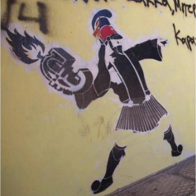 Greek graffiti.