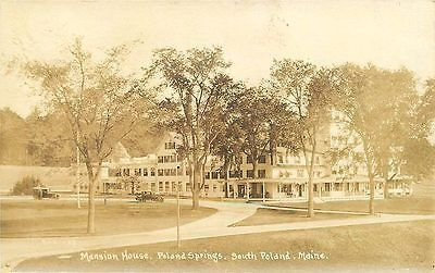 Poland Maine ME 1920s Real Photo Vintage Postcard Poland Springs Mansion House