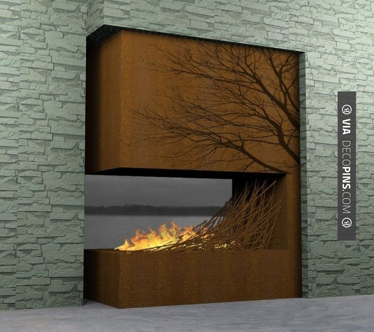 Modern Home Fireplace Designs By Elena Colombo : Nice Contemporary Wooden  Fireplace. Contemporary Wooden Fireplace,elegant Home Fire Features,modern  ...