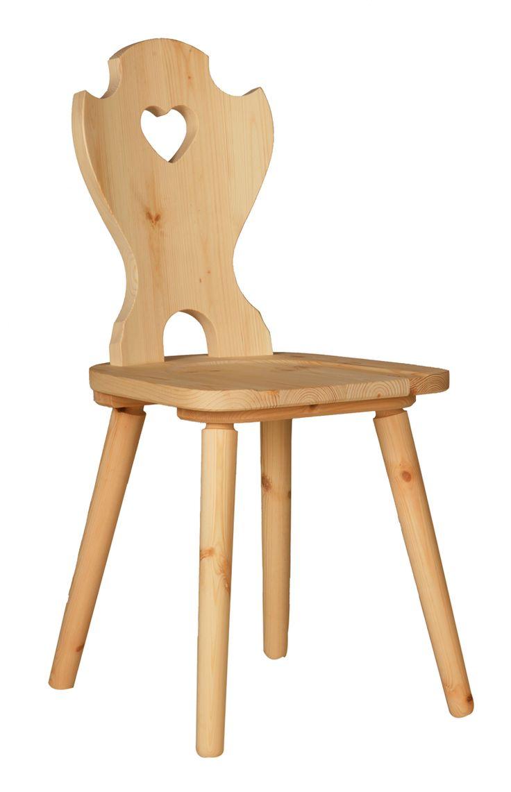 """Gestell: Kiefer massiv gebeizt/lackiert, mit Holzsitz Farbausführungen gemäß Farbauswahl """"Holz"""" Zubehör: Hochwertige Bodengleiter-Komplettsätze zur Selbstmontage Sie können den Stuhl passend zur Bodenart mit Filz-..."""