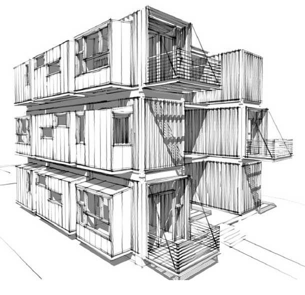 132 best images about container homes on pinterest for Structure container maritime