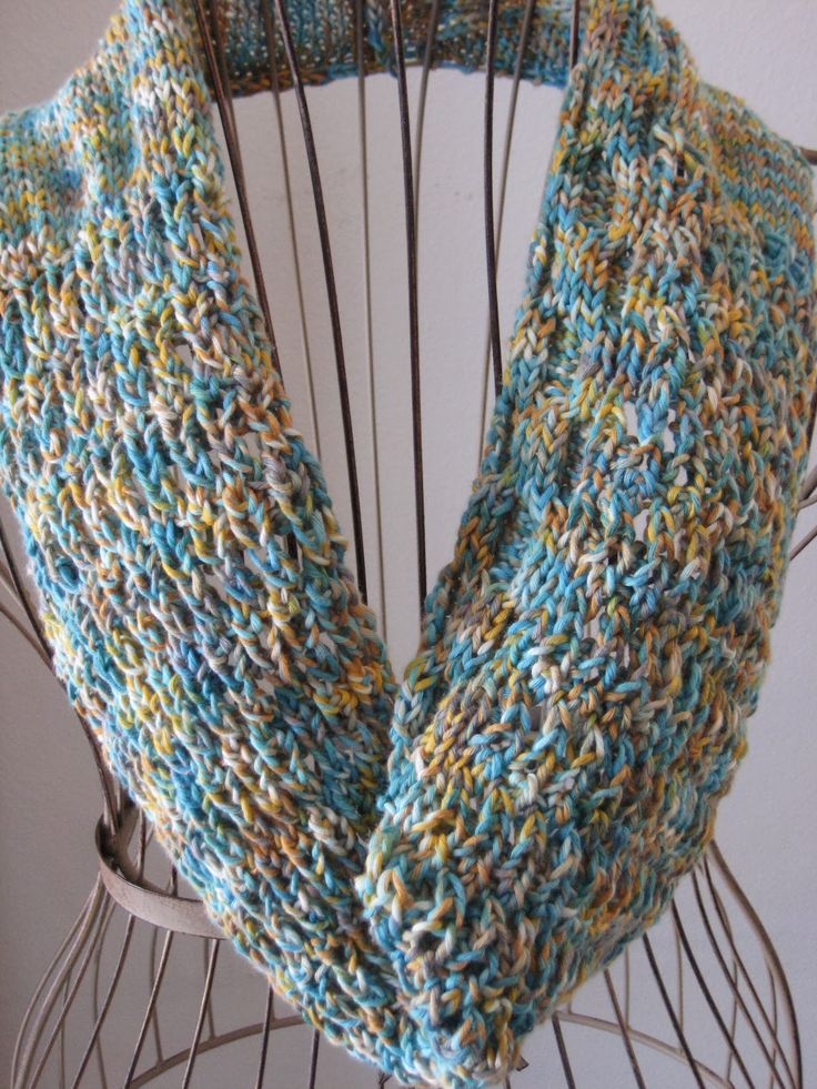 Balls To The Walls Knits Turquoise V Cowl Yarn
