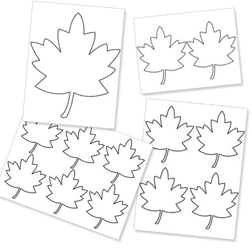 Printable fall leaf template blackline masters for Autumn leaf template free printables