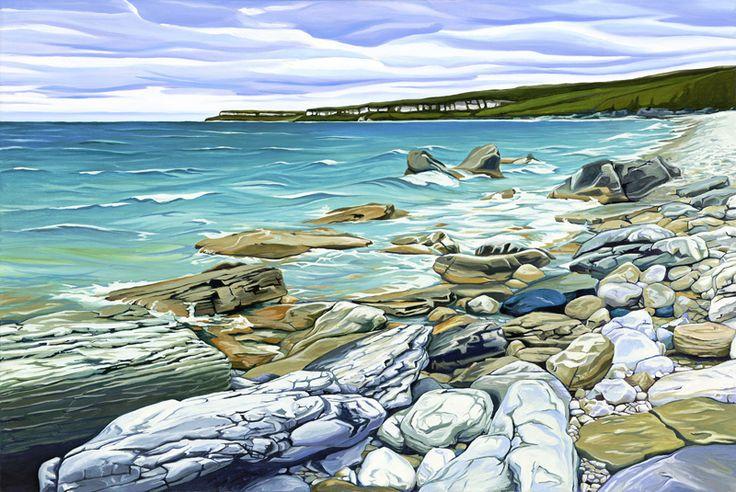 """Halfway Log Dump-Bruce Peninsula"" ~ by Margarethe Vanderpas, Canadian Artist"