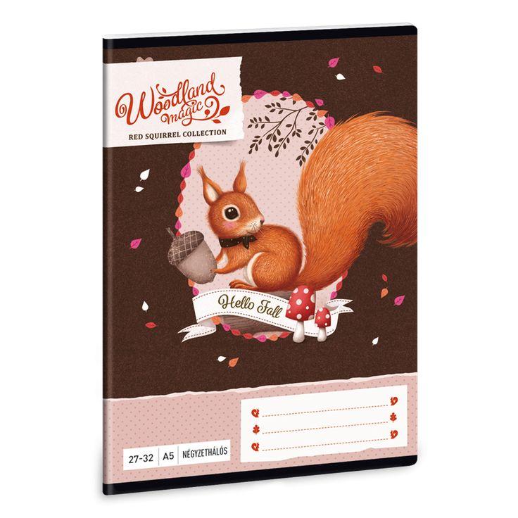 Woodland Magic A/5 négyzethálós füzet 27-32