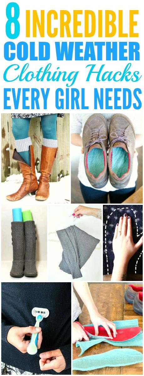 These 8 Incredible Cold Weather Clothing Hack are THE BEST! I'm so glad I found these AMAZING tips! Now I have some cute way to keep warm! Definitely pinning for later!