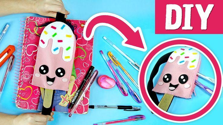 DIY - Faça seu ESTOJO FOFINHO de Picolé ✍