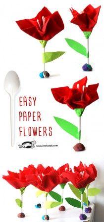 легкие бумажные цветы
