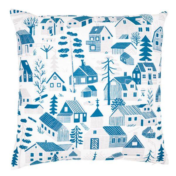 Kauniste's Mökkilä cushion cover, blue
