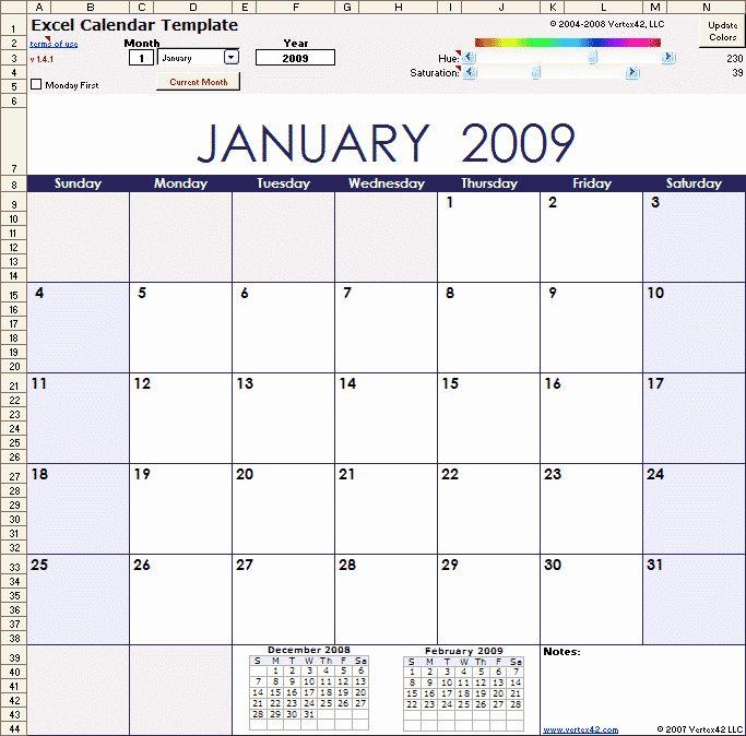 Monthly Event Calendar Template Elegant Excel Calendar Template