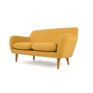 Dylan 2 Sitzer Sofa, Dottergelb