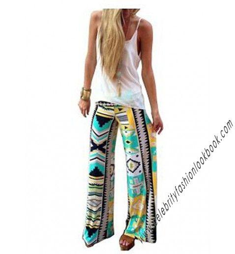 Tribal Print Wide Leg Pants- TeenFashion   US$27.74   #fashion #teen #teenfashion #outfits #tribal #pants #bottoms #fasionista #celebrityfashion