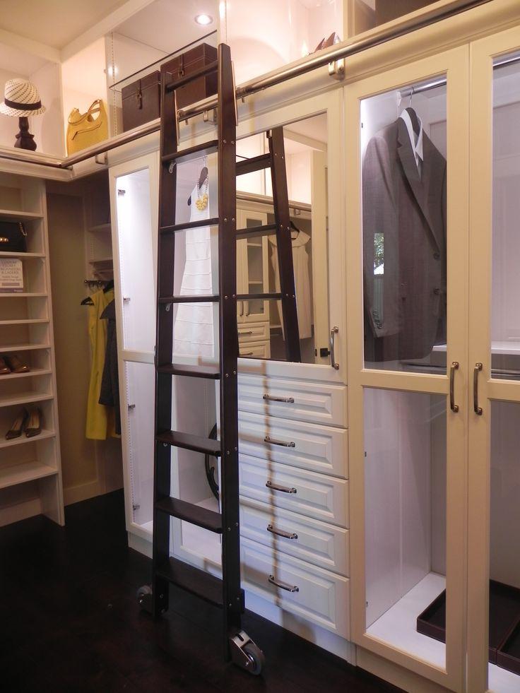 Ladder Closet.  What a great design.
