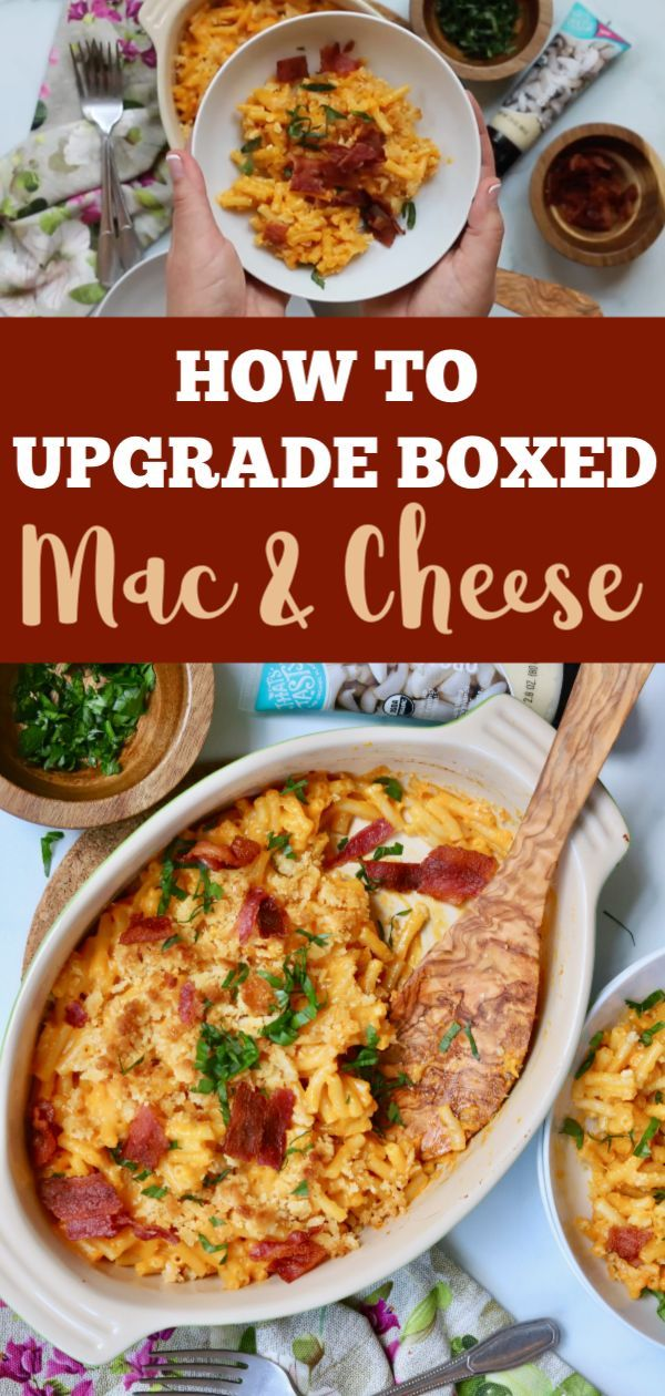 Learn How To Make Box Mac And Cheese Better Slice Of Jess Recipe Boxed Mac And Cheese Mac And Cheese Pasta Recipes