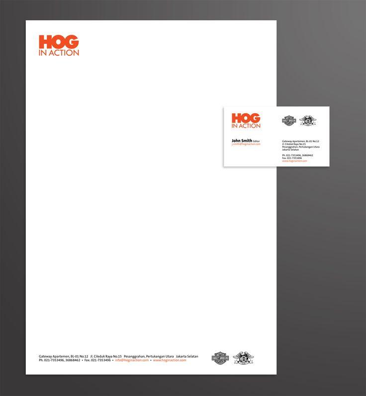 HOG Magz, Logo, Stationery, Magazine Template