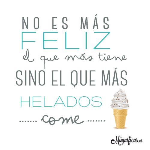 www.mugnificas.es Tazas y láminas para regalar. Diseños originales. Frases con diseño. Felicidad. Helados