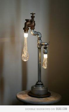 lampara loca con gotas