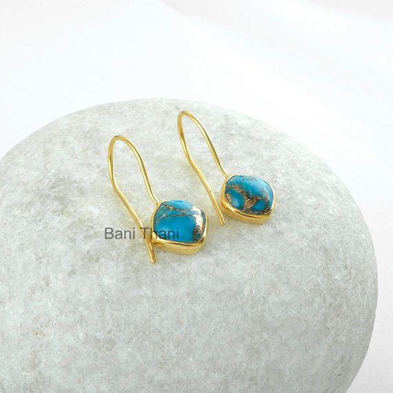 Blue Copper Turquoise Cushion Sterling Silver Gemstone Earrings  http://etsy.me/2zL6xEF  #blue #copper #turquoise #turquoiseearrings #gemstone #earrings #earringsset #goldplated #sterlingsilver #silverearrings #cushionearrings #copperblue #gemstoneearrings #etsyhandmade #etsy #etsyfashion #etsysale  #etsy #gift #giftforher #giftforwomen #womenjewelry