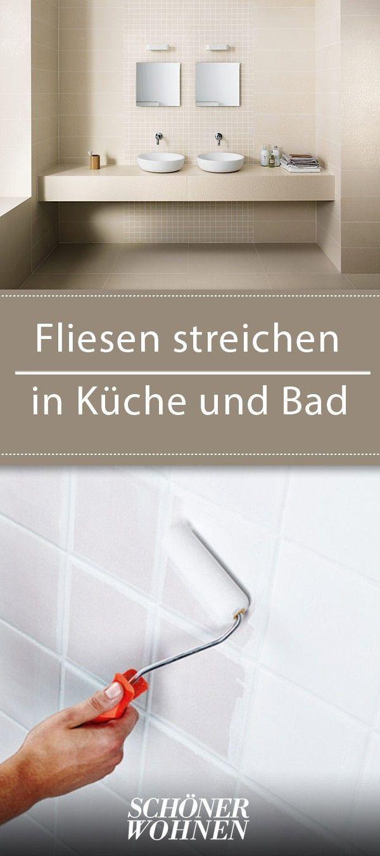 Fliesen streichen in Küche und Bad