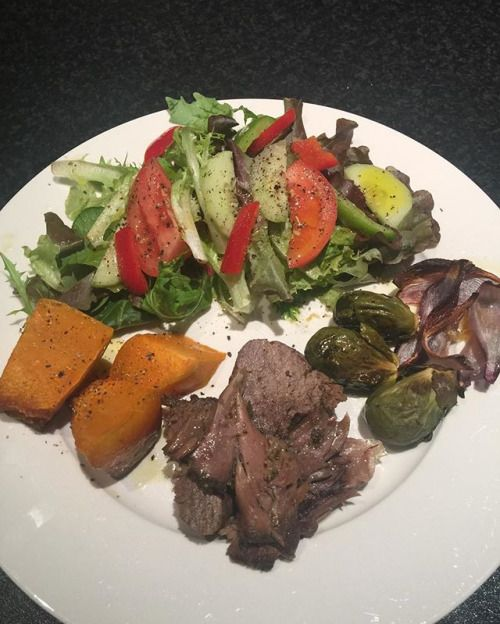 Dinner tonight lamb green salad brussel sprouts roasted onion and pumpkin #paleo #paleolifestyle #keto #lowcarb #paleodiet #primal #intermittentfasting #fasting #lchf #fitfood #healthy #healthyfood #healthylifestyle #nutrition #eatclean #cleaneating #grai