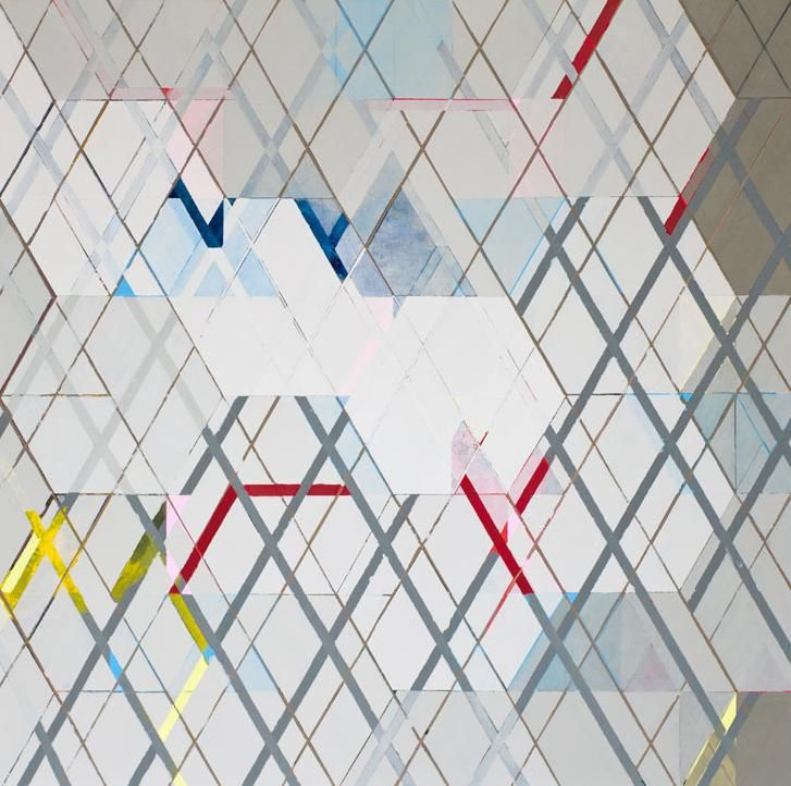 Manoel Novello | O que vem por aí, acrílica sobre tela, 138 x 138 cm, 2011