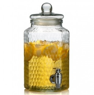 honeycomb pattern on drink dispenser