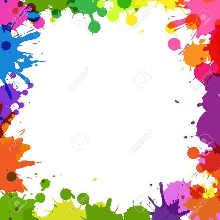 colorful paint splatter border - Поиск в Google