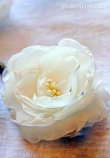 My RoseinItaly: Matrimonio Handmade: ghirlanda di fiori di stoffa