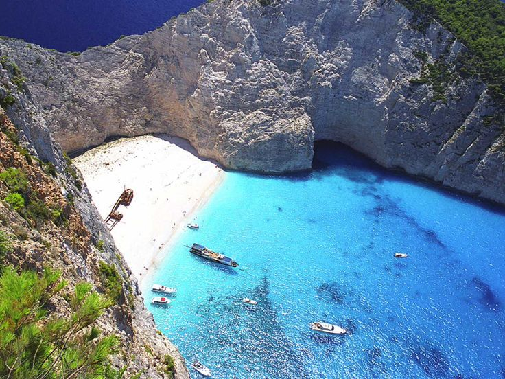 "The famous ""navagio"" beach. Zante island."