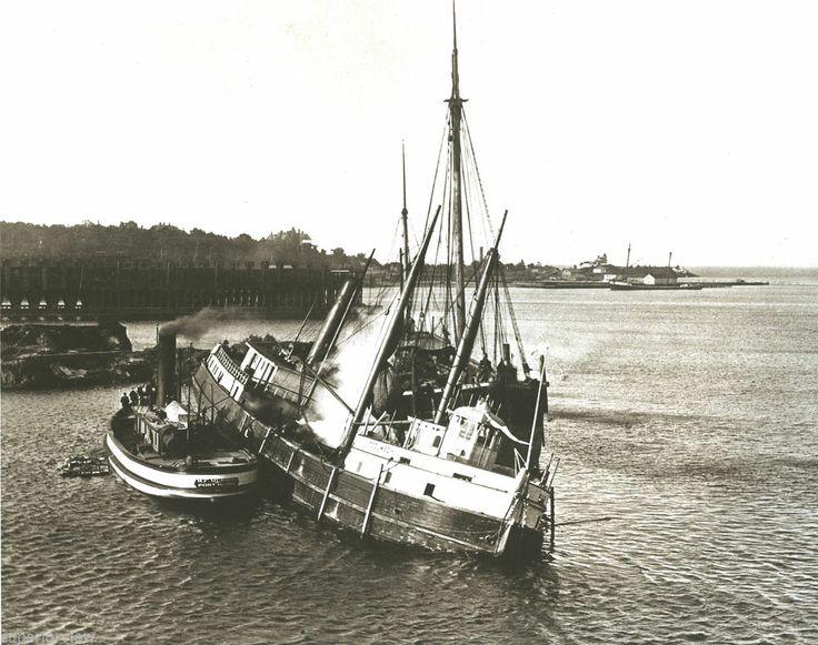 Shipwreck Of The Tecumseh On Rock Tug Boat Lake Superior