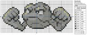 Birdie Stitching Pokemon Pattern - 74 Geodude